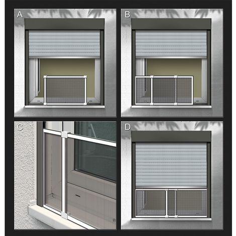 Mosquitera marco extensible blanco medidas: 50x75-142cm