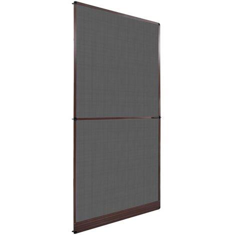 Mosquitera con bisagras para puertas marrón 120x240 cm