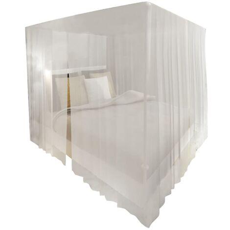 Mosquitera para cama cuadrada 3 aberturas 2 unidades