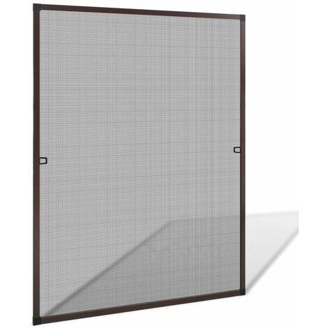 Mosquitera para ventanas marrón 100x120 cm