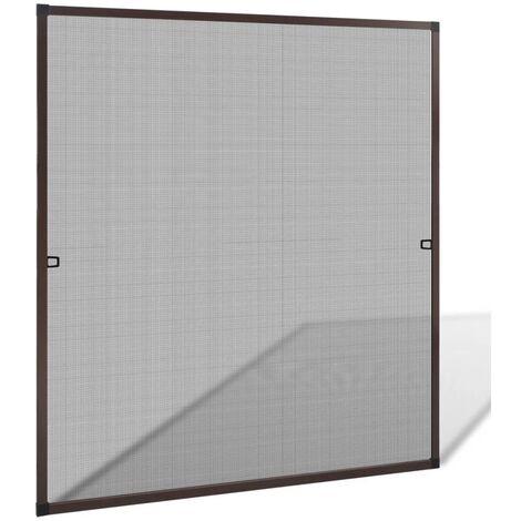 Mosquitera para ventanas marrón 120x140 cm