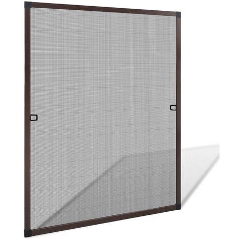 Mosquitera para ventanas marrón 80x100 cm