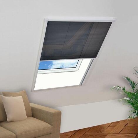 Mosquitera plisada para ventana 110 x 160 cm