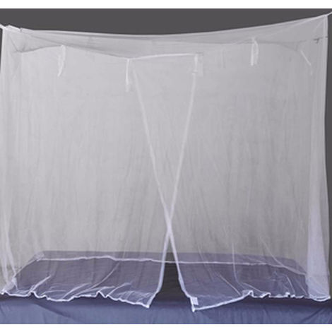 Mosquitera Red de Estudiantes Mosquitera, cama de cortinas, BLANCO, rey