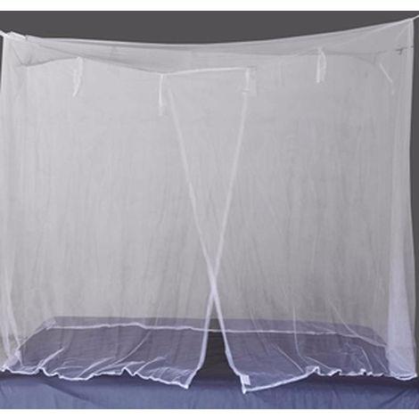 Mosquitera Red de Estudiantes Mosquitera, cortinas de la cama, blanco, completa