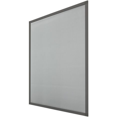 Mosquitera ventana contra insectos 80 x 100 cm aluminio resistente rayos UV gris