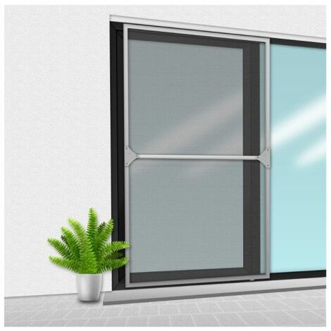 Mosquitera Veranda CONFORTEX sobre marco para ventana corredera - 150 x 220 cm - Gris - Gris
