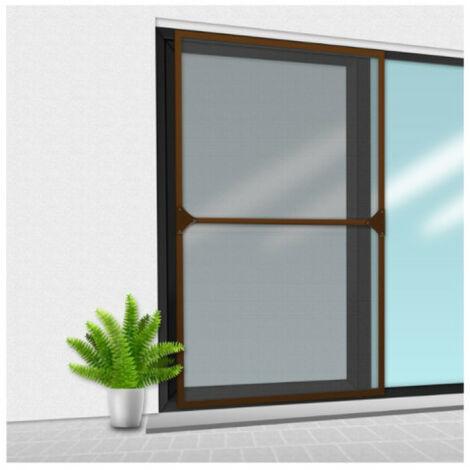 Mosquitera Veranda CONFORTEX sobre marco para ventana corredera - 150 x 220 cm - Marrón - Marron