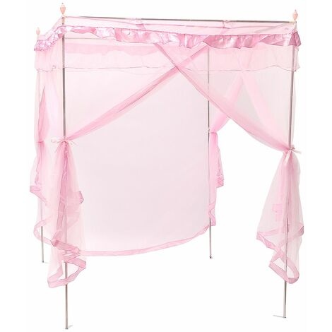 Mosquito net, awning, mosquito net, mosquito net, double bed, Pink insect repellent (180x200cm)