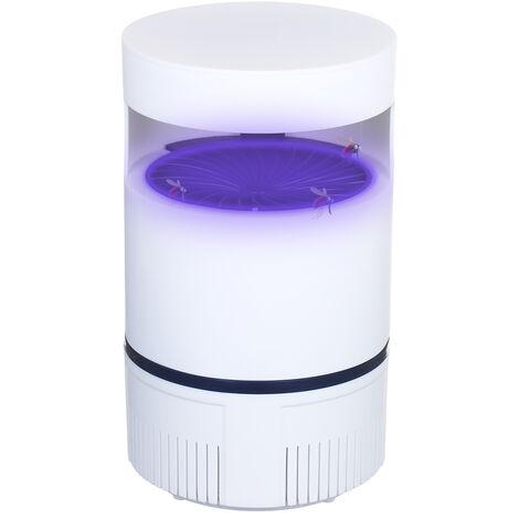 Mosquito Trampa segura de USB-succion Tipo insectos asesino silencioso trampa para insectos cubierta Plug & uso con luz UV, blanca