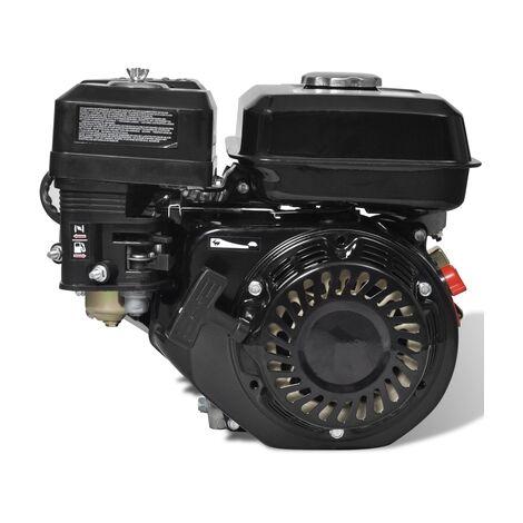 Moteur à essence 6,5 CV / 196 cc pour remplacement tracteur tondeuse, motoculteur, kart
