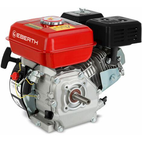 Moteur à essence thermique (5,5 CV, 20 mm Arbre, Alarme manque dhuile, 4 Temps, 1 Cylindre, Refroidissement à air, Démarrage via câble)