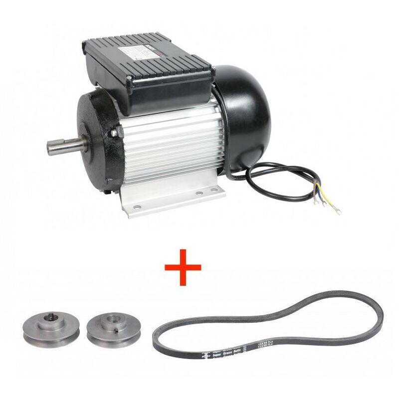 Moteur électrique 2CV asynchrone 1400 trs 230V monophasé - RONDY