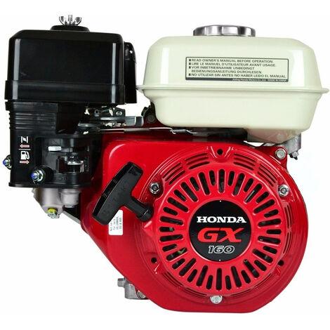Moteur Honda GX160QHB1 163 cc pour motoculteur, motobineuse et bétonnière - Rouge