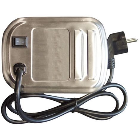 Moteur Tournebroche Électrique Inox - Cook'in Garden - 20,5 x 11,5 x 10 cm