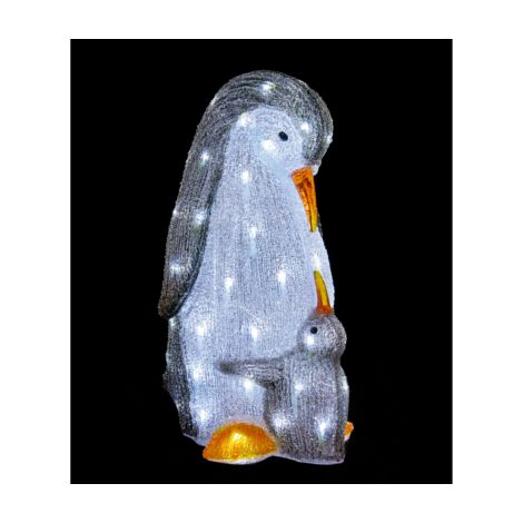 Mother and Baby Penguin Acrylic Characters with 60 LED's
