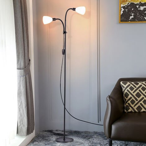 Mother and Child Adjustable Reading Light 180cm Floor Lamp,Paint Black