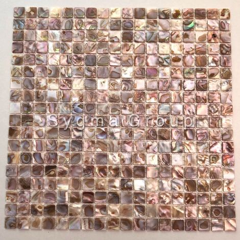 Mother of pearl floor and wall mosaic tiles Nacarat Naturel