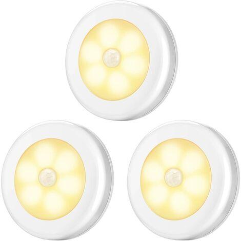 Motion Sensor Light, LED Sensor Night Lights, (3 pcs, Warm White)