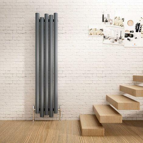 Motion Vertical Aluminium Radiator 1800x390 4871 BTUs Textured Anthracite