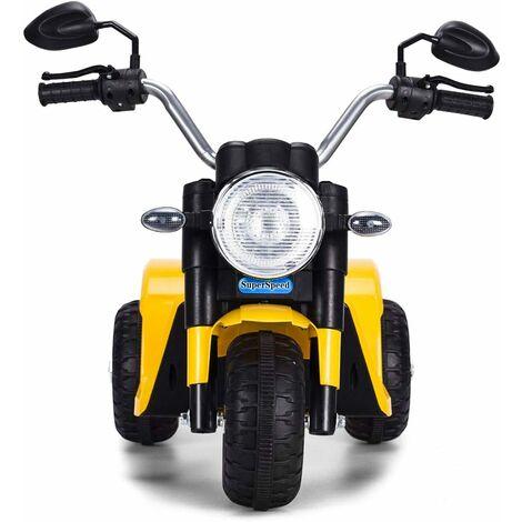 Moto Eléctrica Infantil de Bateria 6V Motocicleta Recargable para Niños con Cargador y Ruedas Apoyo