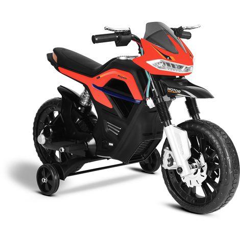 Moto electrica niños FASTER bateria 6V recargable con luces y musica +3 años