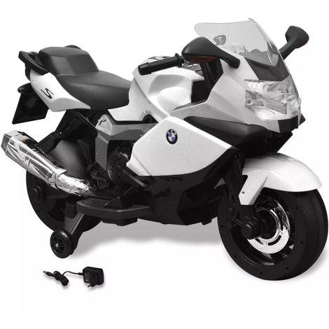 Moto électrique BMW 283 blanc 6 V pour enfant VD00014