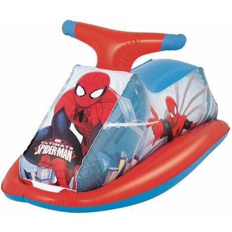 Moto hinchable para niños Bestway Spiderman 89x46 cm
