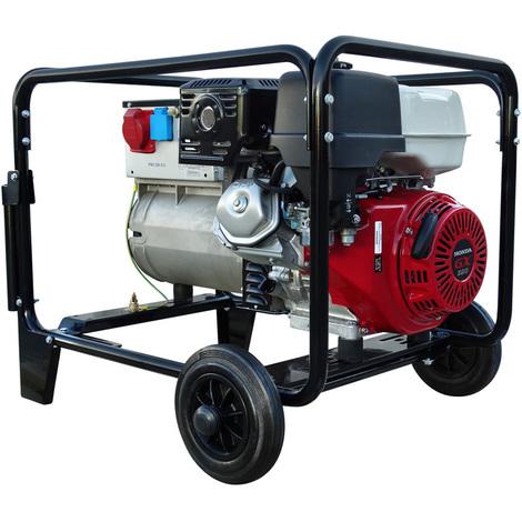 Moto soldadora 220 amperios, trifásico 400V/230V potencia 6,5 kVa Inmesol AHS-650 Motor Honda Gasolina Arranque Manual