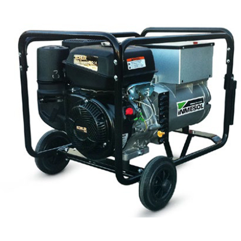 Moto soldadora 220 amperios, trifásico 400V/230V potencia 6,5 kVa Inmesol AKS-650 Motor Kholer Gasolina Arranque Manual
