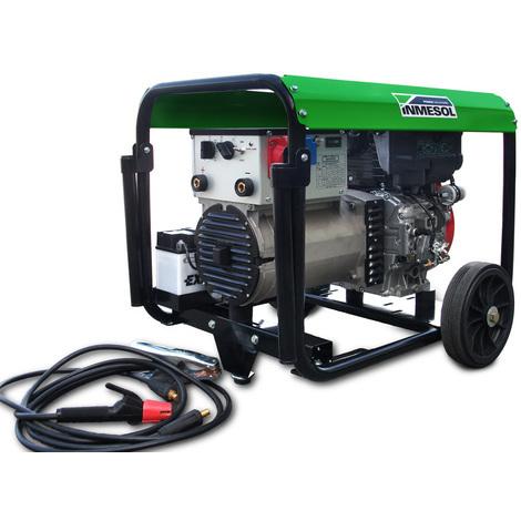 Moto soldadora 220 amperios, trifásico 400V/230V potencia 6,5 kVa Inmesol ALS-650 Motor Lombardini Diesel Arranque Eléctrico