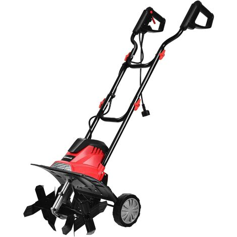 Motoazada Eléctrica Ancho de Trabajo de 35 cm /4 Cuchillas /1200W / Profundidad de Trabajo de 22cm / 365 RPM para Jardín
