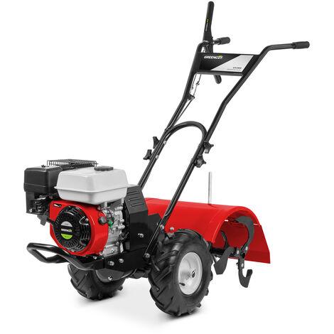 Motoazada GTC200X motor gasolina 4 tiempos de 196cc 6,5cv. Ancho trabajo 50cm. Profundidad trabajo 17,5-35cm. Manillar regulable 3 posiciones - Greencut