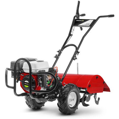 Motoazada GTC220X motor gasolina 4 tiempos de 208cc 7cv. Ancho trabajo 70cm. Profundidad trabajo 35cm. Manillar regulable 3 posiciones - Greencut