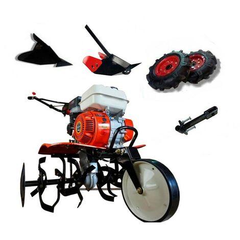 Motoazada Powerground 700 + Ruedas + Asurcador + Asurcador profesional + Enganche