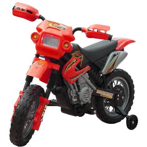 Motobicicleta Eléctrica Para Niños Rojo - Rojo