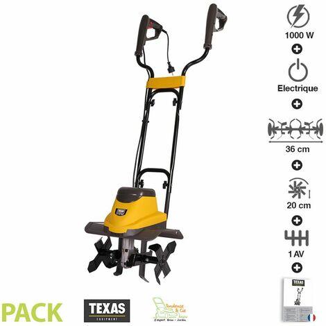 Motobineuse électrique 1000 watts largeur travail 36cm Texas ELTEX1000 - Jaune