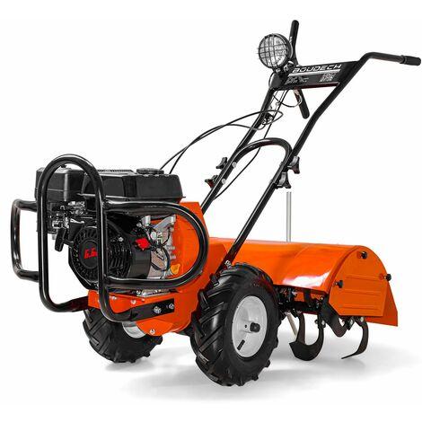 Motobineuse Motoculteur 4 temps compact 196Cc et 6,5Hp largeur de travail 70cm Certifié CE avec allumage électrique ON/OFF