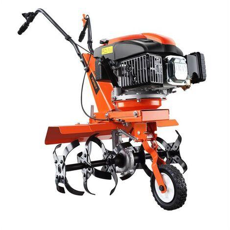 Motobineuse motoculteur thermique FUXTEC FX-AF1139 avec set d'élargissement de la largeur de travail inclus