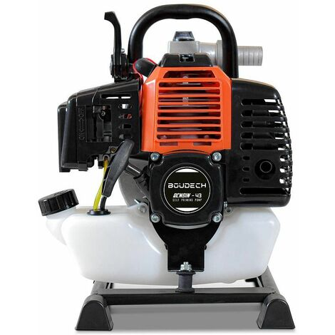 Motobomba de agua autocebante con motor de gasolina de 42,7 cc.
