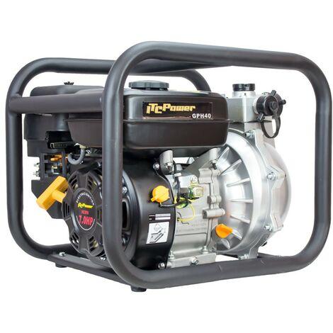 Motobomba de Aguas Limpias de Alta presión, motor IC210 OH, potencia 7,0 HP con un caudal de20 m3/h (335L/min), y una altura máxima de 55m, capacidad combustible 3,6L