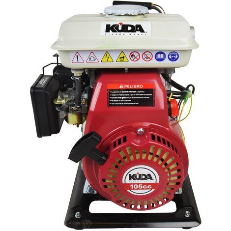 Motobomba de caudal a gasolina KUDA con entrada/salida de 40, autoaspirante, 2,5CV