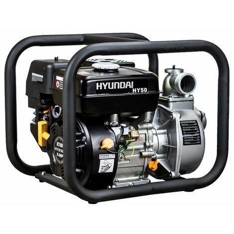 """Motobomba de gasolina 4 tiempos 163cc 2 30000L/h HY50 Hyundai"""""""