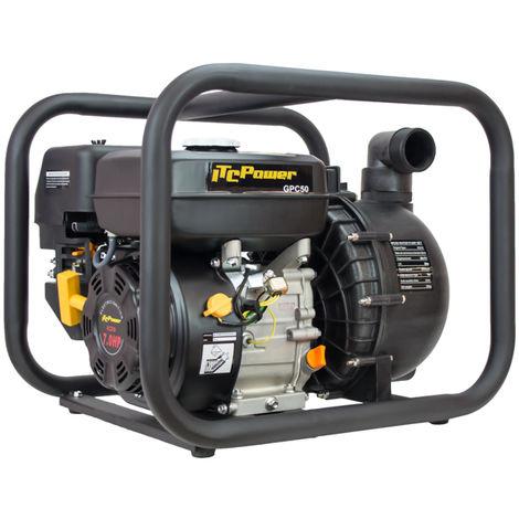 Motobomba Gasolina de Líquidos corrosivos motor C210 OHV, potencia 7,0 HP con diámetro de 50 mm, un caudal de30 m3/h (500 L/min), y una altura máxima de 30 m