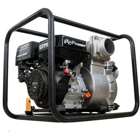 "Motobomba IT-GTP100X Aguas Cargadas (Gasolina) ITCPower, motor IC420 OHV con un diámetro de 100 mm (4""), con un caudal102 m3/h (1.700 L/min), altura 25m. Capacidad combustible 3,6 L, motor cilindrada 420 CC"