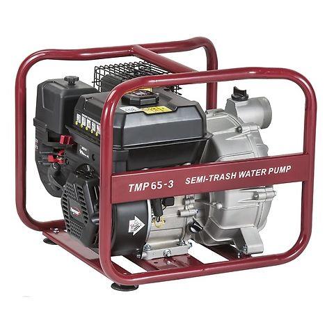 Motobomba Pramac Powermate TMP65-3, gasolina, agua semi-sucia, altura máxima 29 m, caudal máximo 1080 l/min, arranque manual