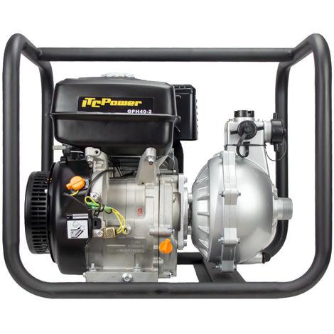 """MotobombaIT-GPH40-2 de Alta presión motor IC390 OHV, potencia nominal 13 HP,con un diámetro de 40mm ( 1 1/2\"""").Caudal máximo de 21m3/h (350 L /m), Altura máxima de 90 m,Diámetro de partículas de 9mm"""