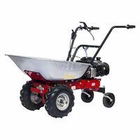 Motocarriola EUROSYSTEMS mod. CARRY trazionata con motore HONDA GCV 160 - MADE IN ITALY