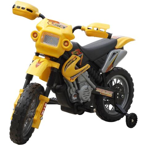 Motocicleta Eléctrica Amarillo Para Niños - Amarillo