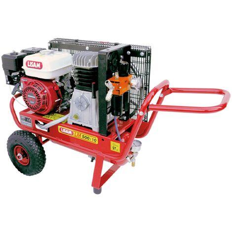 Motocompressore a benzina Lisam LM 500/10 con motore Honda da 5,5 Hp